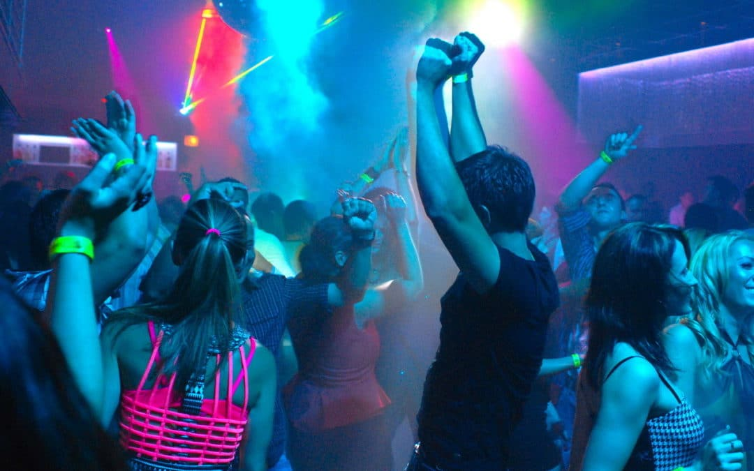 Top Party in Nizza, Frankreich