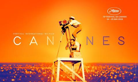 cannes capital of cinema palms & sandy beaches festival poster