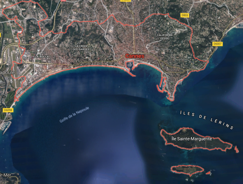cannes map riviera