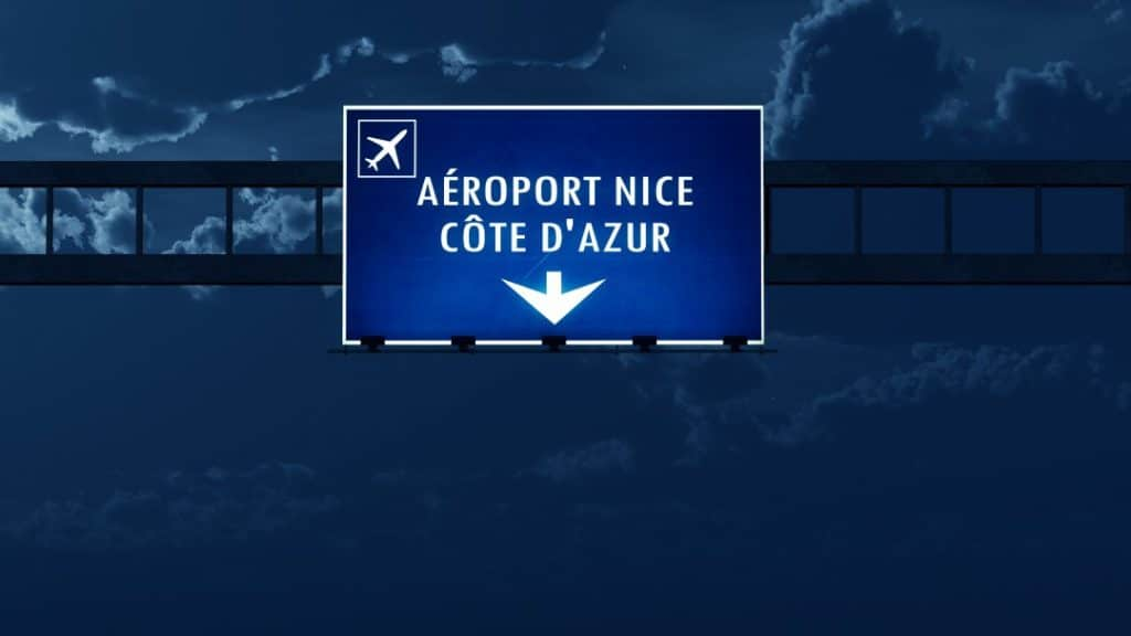 how to get from nice airport to the city center
