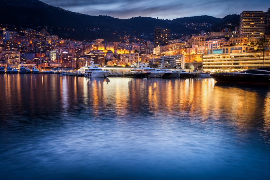 Nice to Monaco port night