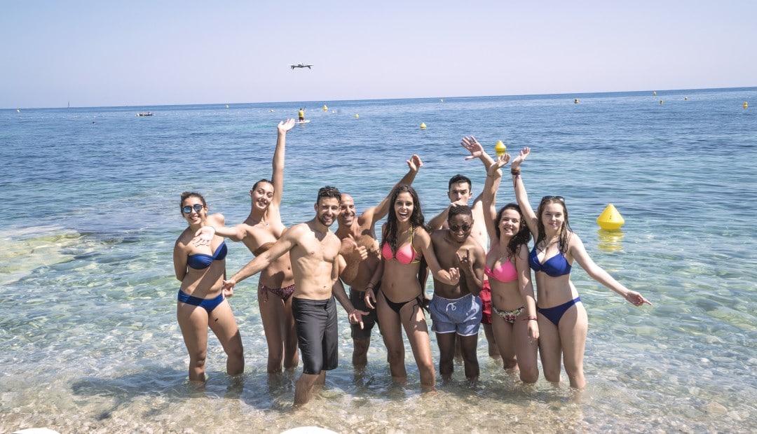 weekend d'intégration étudiant sur la côte d'azur